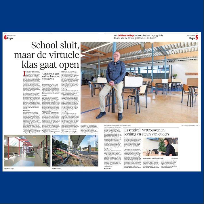 De Gooi- en Eemlander: School sluit, maar de virtuele klas gaat open 7